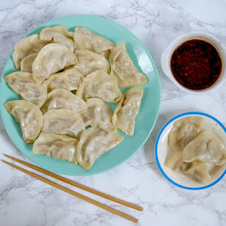 Vegan Dumplings With A Peanut Soy Dipping Sauce
