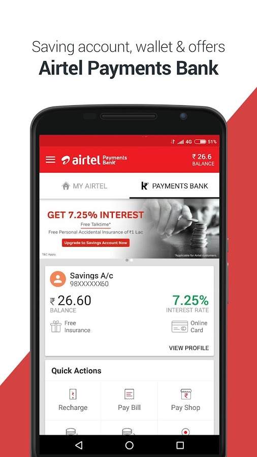 My Airtel-Recharge, Bill, Bank- screenshot