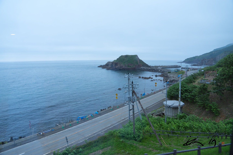 夕陽荘にて日本海を望む