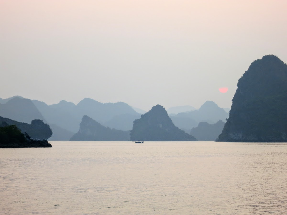 Halong Bay Kayaking and sunset magic
