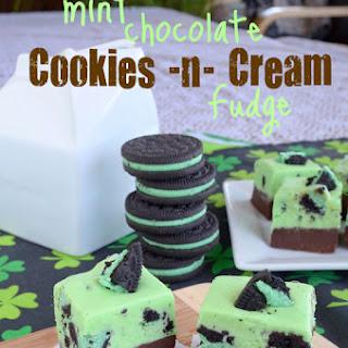 Mint Chocolate Cookies and Cream Fudge