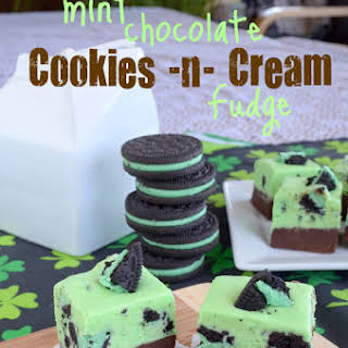 Mint Chocolate Cookies and Cream Fudge.