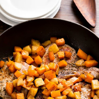 Pork Chops with Cinnamon Apples and Butternut Squash