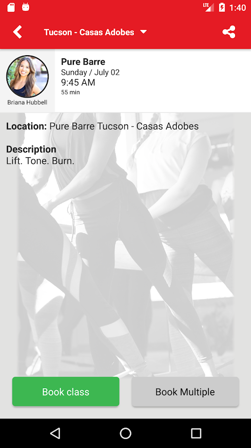 Pure Barre- screenshot