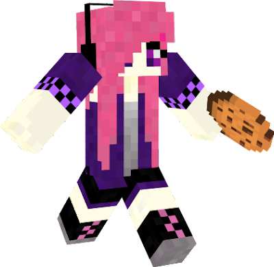 this girl has a two colour theme pink and purple if u like vote up and thanx