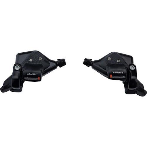 MicroShift TS71 Thumb Tap Shifter Set, 7-Speed, Triple, Optical Gear Indicator, Shimano Compatible