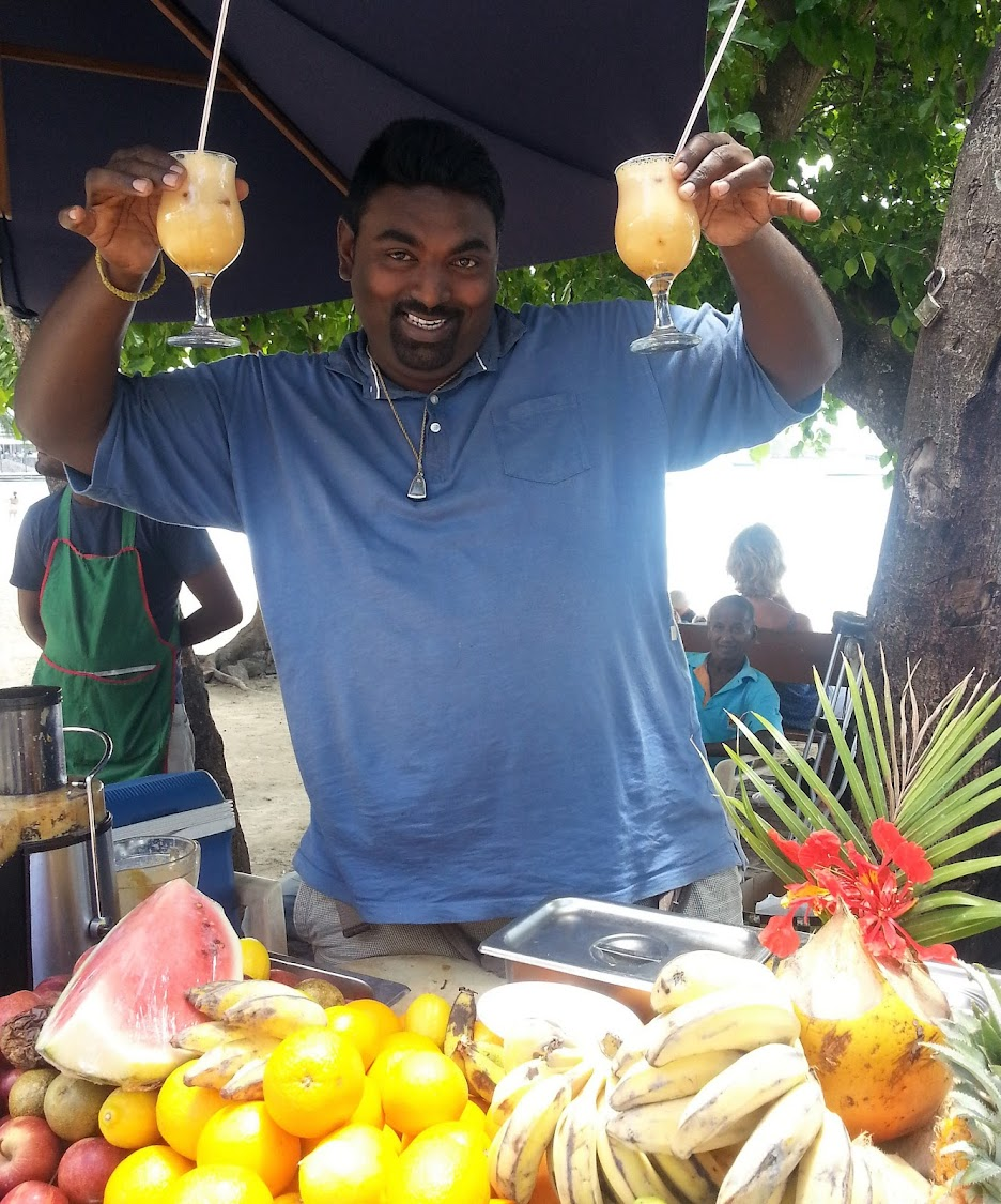 Streetfood vendor in Grand Bay
