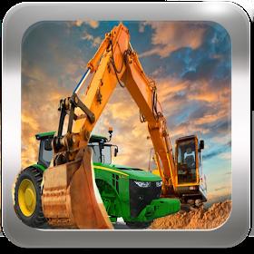 Tractor Concrete Excavator 3D