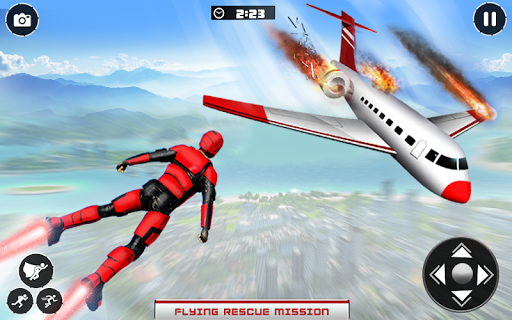 Real Speed Robot Hero Rescue Games screenshot 1