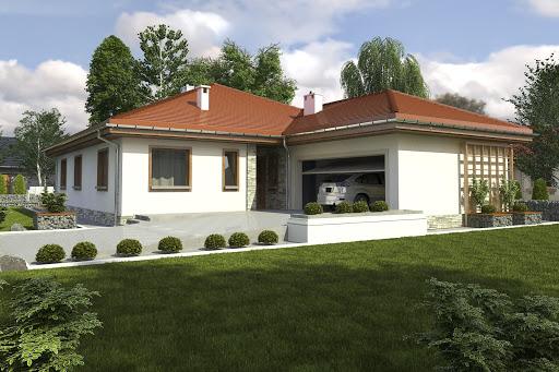 projekt Sroka III z garażem 2-st. A
