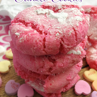 Pink Cake Mix Crinkle Cookies