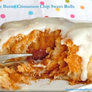 Apple Butter Cinnamon Chip Sweet Rolls