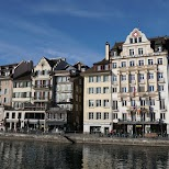 Lucerne Reuss waterfront in Lucerne, Lucerne, Switzerland