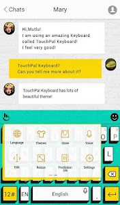 TouchPal Pop Art Aqua Theme screenshot 2
