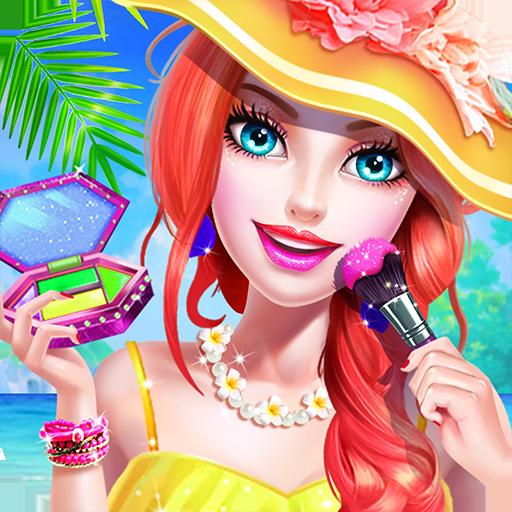 沙灘派對 – 化妝換裝遊戲 休閒 App LOGO-硬是要APP