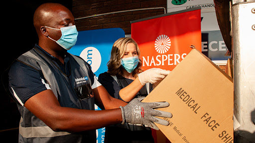 Naspers's first batch of PPE supplies arrived from China on Monday.