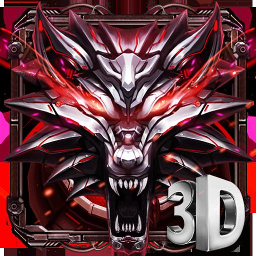 3D Iron Wolf Theme