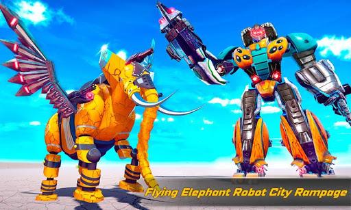 Flying Elephant Robot Transform: Flying Robot War 1.1.1 Screenshots 6