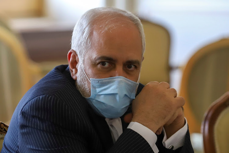 Iran's foreign minister Mohammad Javad Zarif looks on during a meeting in Tehran, Iran, February 21 2021. Picture: MAJID ASGARIPOUR/WANA NEWS AGENCY/REUTERS