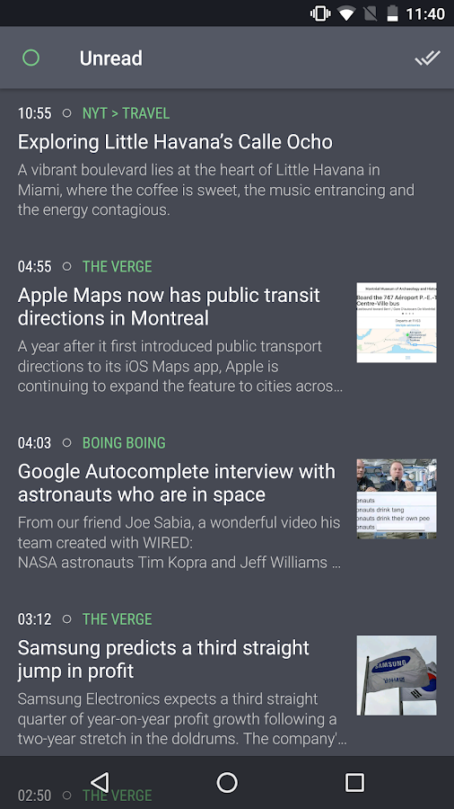 Newsfold | Feedly RSS reader- screenshot