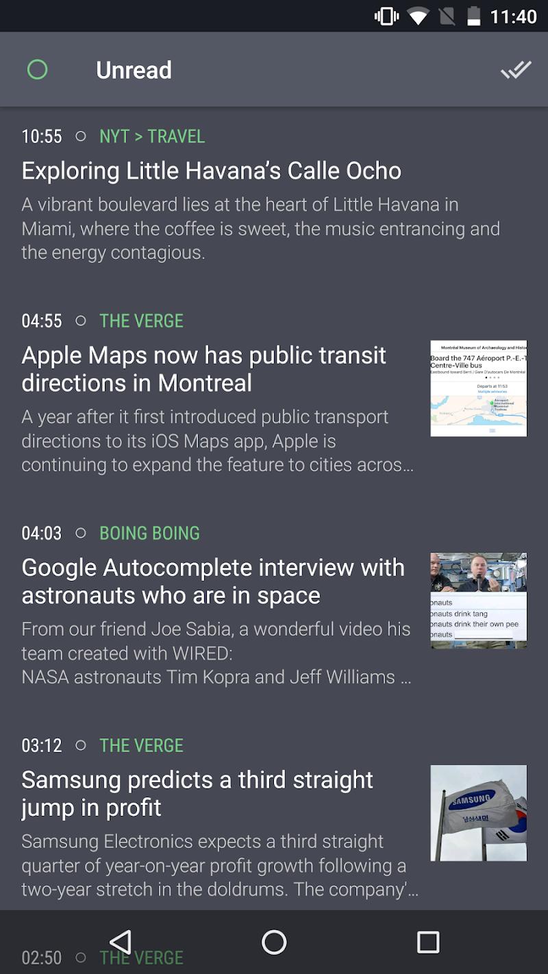Newsfold | Feedly RSS reader Screenshot 2