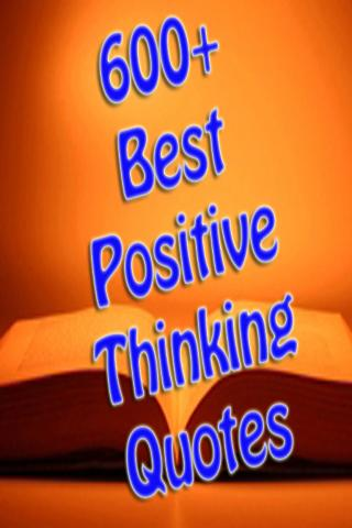 Best Positive Thinking Quotes