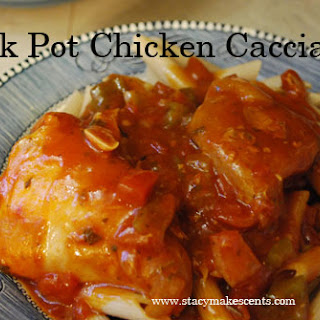 Crock Pot Chicken Cacciatore.