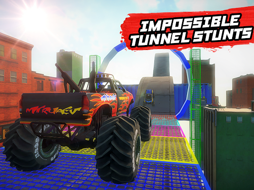 Mega Ramp Monster Truck Stunt Racing apkmr screenshots 6