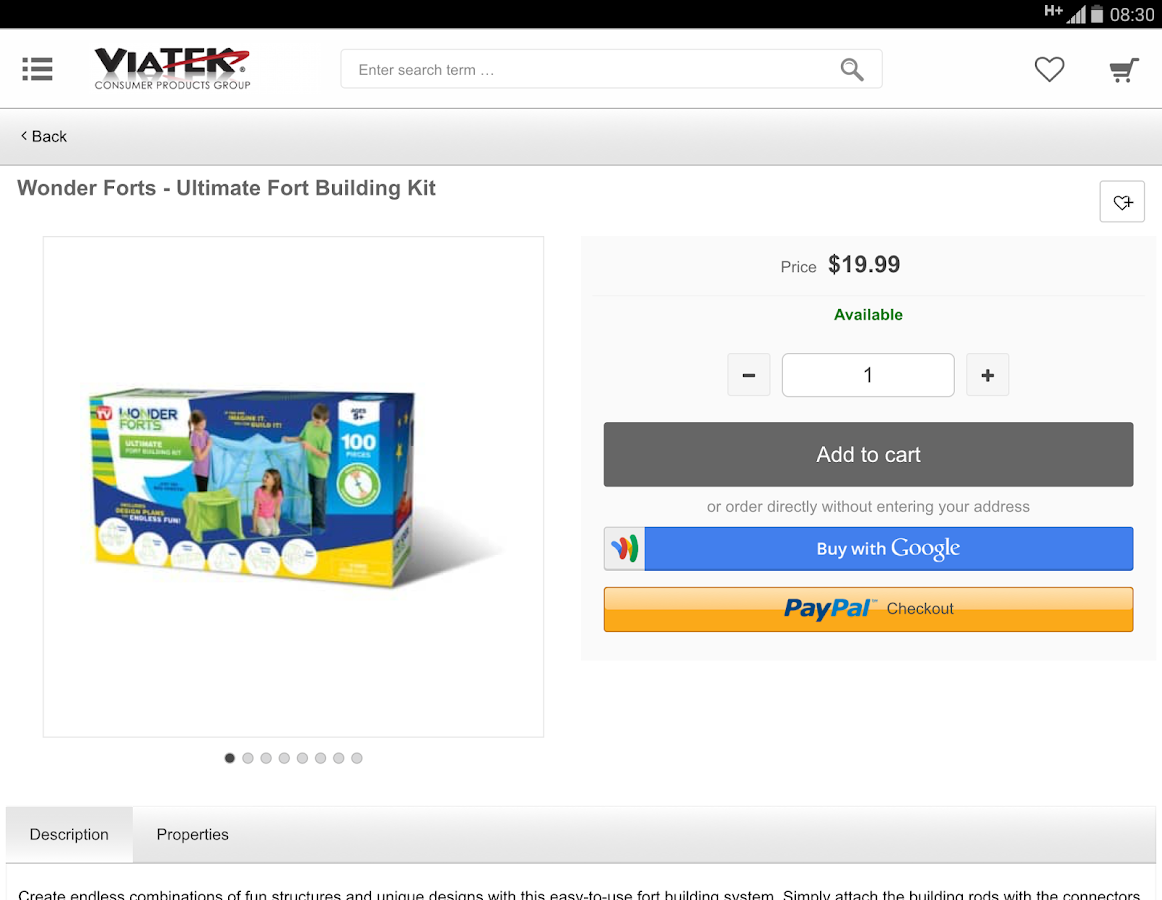 Shop Viatek Products- screenshot