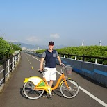 take an Ubike waterfront bike ride in northern Taipei in Taipei, T'ai-pei county, Taiwan