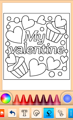 Valentines love coloring book filehippodl screenshot 12