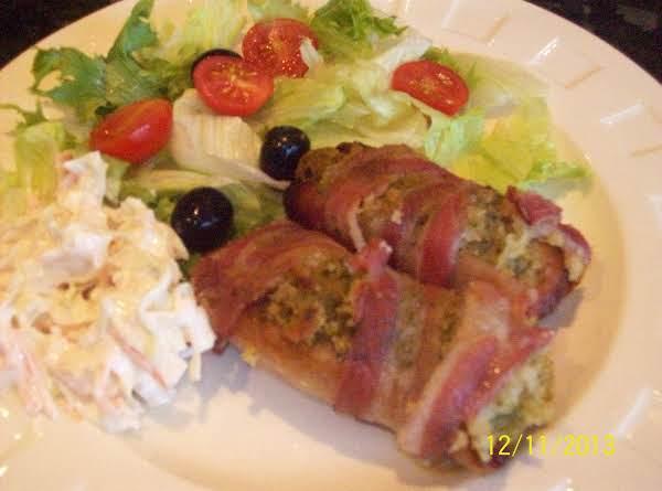 Stuffed Porksausage & Smokey Bacon Wraps ..