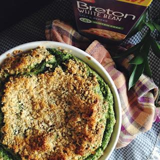 Gluten Free Spinach & Goat Cheese Soufflé