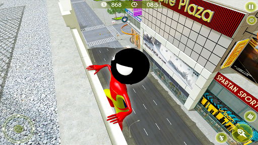 Stickman Crime City War - Stick Rope Hero Game 3 screenshots 2