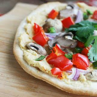 Veggie Hummus Pizza.