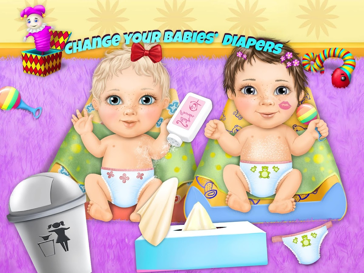 Sweet Baby Girl Twin Sisters Apl Android Di Google Play