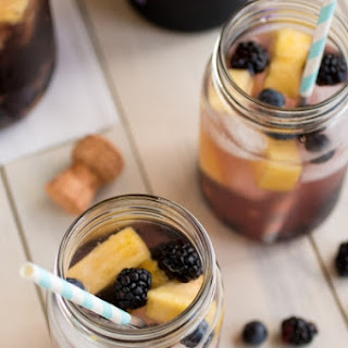 Pineapple Berry Prosecco Cocktail