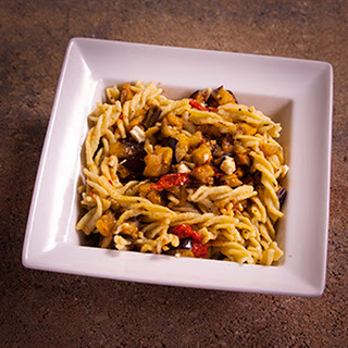 Fusilli and Roasted Vegetables.