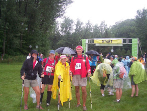 Photo: GHTA Team at Start of OXFAM Trailwalker Event, Fort Willow Orillia Section