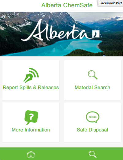 Alberta ChemSafe- screenshot