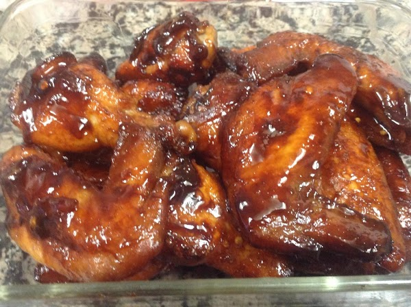 Transfer to serving dish immediately as the sauce is quite sticky and the chicken...