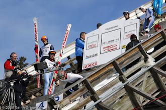 Photo: Prøvehopper slipper bommen under World Cup i skiflyging i Vikersund