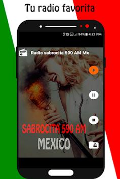 Radio Sabrosita 590 AM Mexico Free Broadcaster Poster