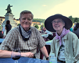 Photo: In summer of 2013, our house near Cahors was a base for short trips around southwest France. The pictures which follow are a combination of scenics, artistic shots and more ordinary pictures pictures to show some of what we saw. Enjoy!  Here we're seen at a western-themed Franco-American July 4th event in Cahors.