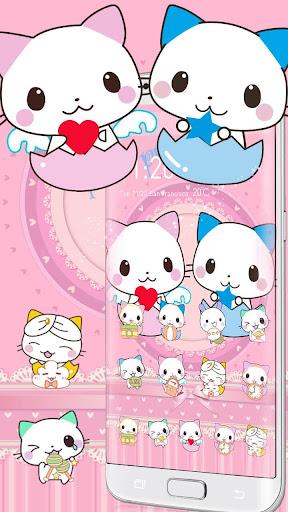Cute Cartoon Cat Love Theme 1.1.7 screenshots 5