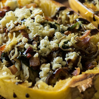 Spinach Bacon Spaghetti Squash