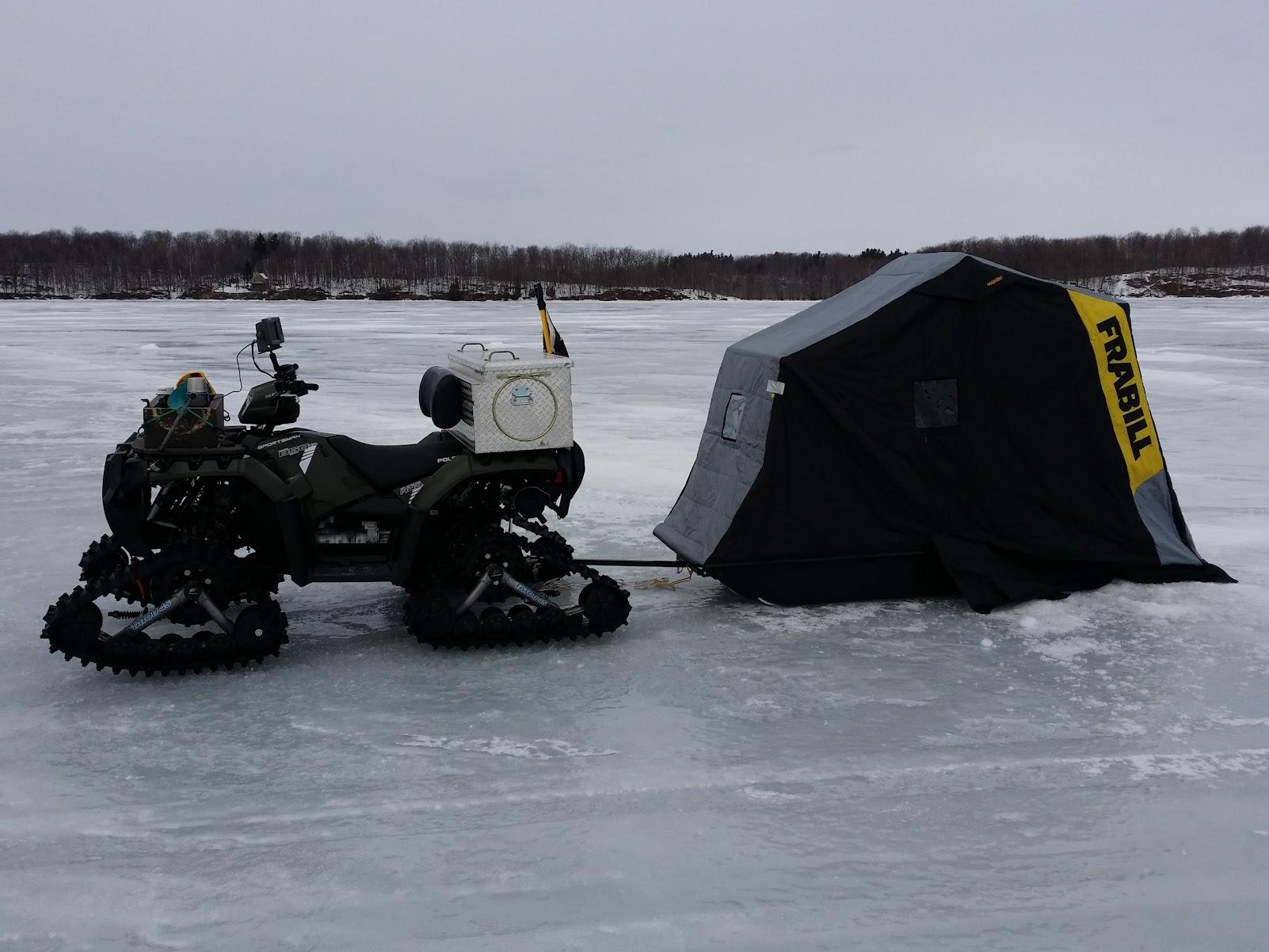 Ice fishing set up polaris atv forum for Atv ice fishing accessories