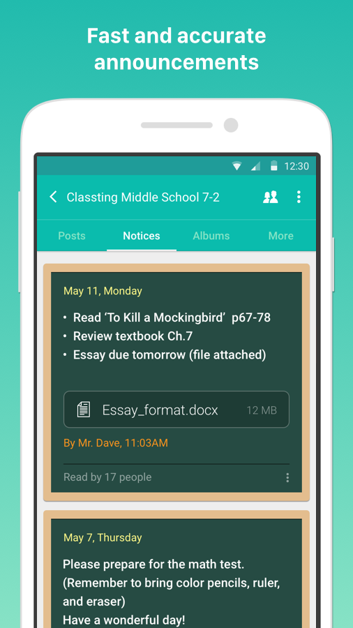 Classting- screenshot