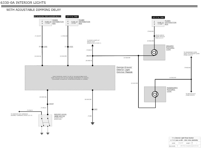 adjustable dimming interior lights wiring diagram rh m42club com wiring diagram for a dimmer light switch