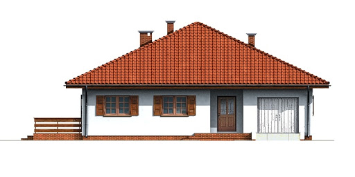 Dom przy Słonecznej - Elewacja przednia